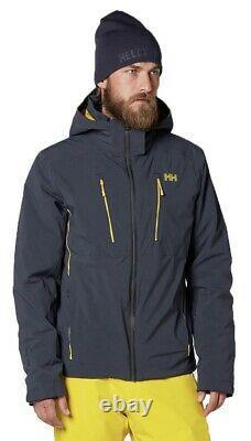 Helly Hansen Alpha 3.0 Veste De Ski D'hiver Coat Navy Et Yellow Accents Medium