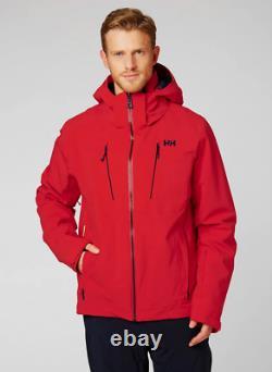 Helly Hansen Alpha 3.0 Veste De Ski Isolée Homme 65551/222 Alerte Rouge Nouveau