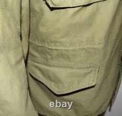 Homme 1975 Vietnam Alpha M-65 Temps Froid Veste Militaire De Campagne Manteau M À Capuche