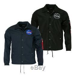 Hommes Alpha Industries Nasa Coach Jacket
