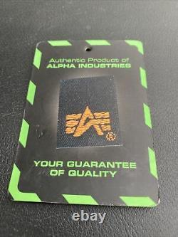 Hommes Alpha Industries Taille M Manteau Veste En Cuir Noir Bomber Pilot