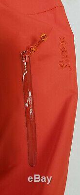 Hommes Arc'teryx Alpha Sv Orange Gore Tex Pro Hardshell Ski Snowboard Jacket Petit