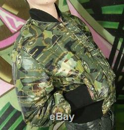 Hommes Gaultier Jeans Faces Réversible Noir + Veste M Camou Bomber-l Alpha F39