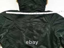 Hot Hommes Alpha Industries @ Parka N-3b Vold Flight Fur Hoooded Black Coat Jacket M