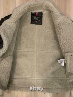 Industries Alpha B-3 Boa Jacket Coat Blouson Zip Up M Hommes Du Japon Utilisé