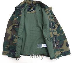 Industries Alpha Hommes Veste Dragon World Tour Field Coat Woodland Camo Unisexe M