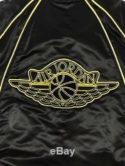 Jordan 1 Alpha Omega Veste Satinée Noire / Jaune Taille Medium 2011 Rare