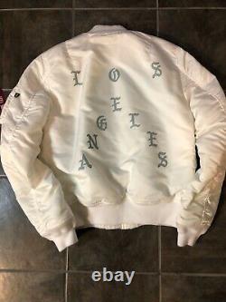 Kanye West Ma-1 Alpha Industries Life Of Pablo White Bomber Jacket, Los Angeles