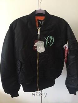 Le Weeknd Starboy Black Bomber Jacket Sz Moyenne Alpha Industries Xo, Newithtags
