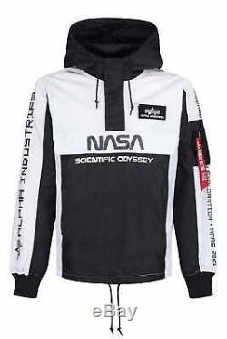 Limited Edition Alpha Industries Nasa Scientific Odyssey Veste Noir / Blanc