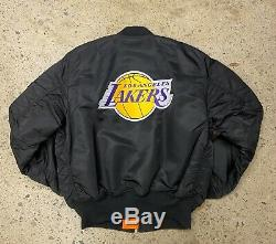 Los Angeles Lakers Alpha Industries Bomber Jacket Kobe Suprême La Jersey Entrée