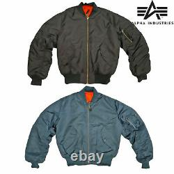 Ma1 Vol Rembourré Bomber Jacket Military Army Pilot Air Force Alpha Industries