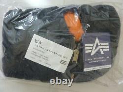 Made In USA Ma-1 Alpha Industries Medium Veste De Vol Pilote Us Black Alpha USA