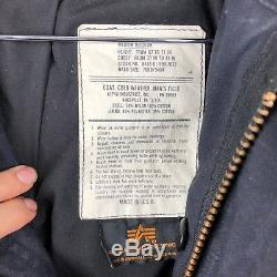 Manteau Alpha Industries M-65 Defender Pour Manteau Taille Noir Moyen Fabriqué Aux États-unis