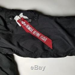 Manteau Alpha Industries Type N-3b Altitude Parka Sz Pour Femmes, Temps Froid, Noir