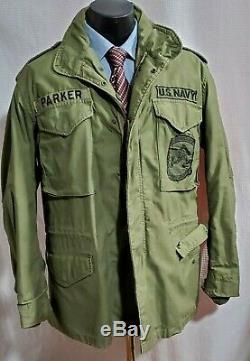 Manteau Militaire M-65 Alpha Industries Veste Militaire, Marine, 1974, Grand / Américain
