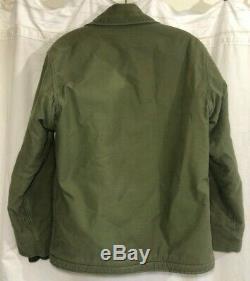 Manteau Vintage Usn Us Navy A-2 Perméable Pour Temps Froid Alpha Industries Medium