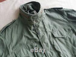 Manteau Vtg 70s Alpha M-65 Jacket Od Medium Regular Scovill Zip