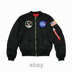 Mens Alpha Industries L-2b Apollo Flight Jacket Noir