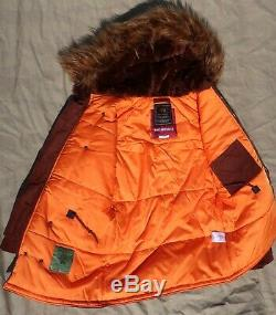 New Alpha Industries N3b Extreme Cold Weather Taille Moyenne Corduroy N3b Parka