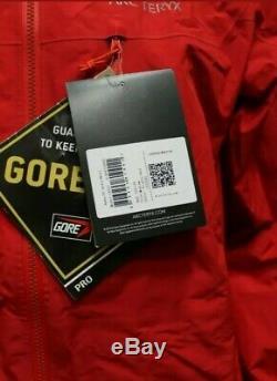 New Arc'teryx Alpha Men Ar Gore-tex Pro Jacket, Med, Diablo Red