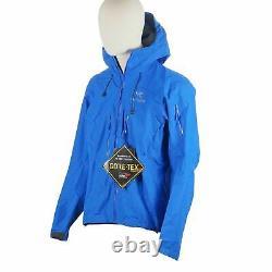 New Arc'teryx Homme Alpha Sv Hooded Zippered Jacket In Rigel Blue Medium