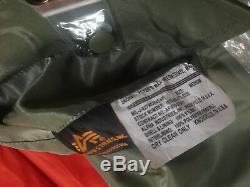 New Ma-1 Alpha Industries Us Army Pilot Flight Jacket Bombardier Militaire Od Vert