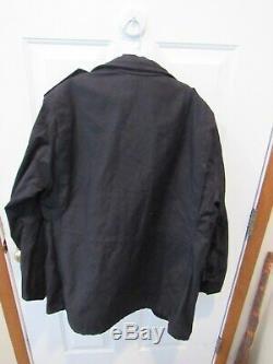 New Original Veste De Campagne Alpha Industries M-65 Noire Taille Moyenne Pour Homme