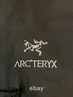 Noir Arctéryx Arctéryx Alpha Sv Veste Manteau Brise-vent Moyen