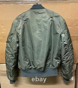 Nous Sommes Authentiques Alpha Industries Veste Flyers Man Ma-1 Made In USA Ex Cond! Moyenne