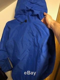 Nouveau Arc'teryx Alpha Sv Jacket Hommes Medium Rigel Bleu Gore Tex Pro Shell