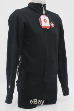Nouveau! Castelli Hommes Alpha Cyclisme Veste Taille Noir MI