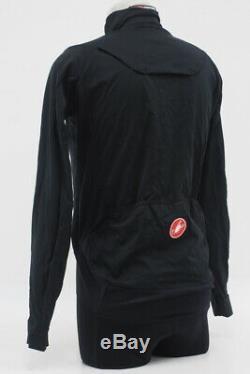 Nouveau! Castelli Hommes Alpha Veste De Cyclisme Noir Taille Medium