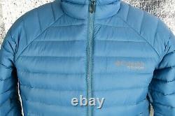 Nouveau Columbia Titanium Alpha Trail Down Veste 3d Omni Heat Sz M Bleu 240 $