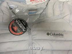 Nouveau Columbia Titanium Alpha Trail Gris Down Jacket 3d Omni Heat 2xl 199 $