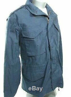 Nouveau (nwot) Alpha Bleu Marine M65 Champ Veste Temps Froid Manteau Man Medium Reg