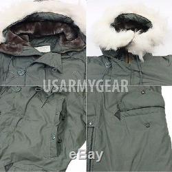Nouvelle Us Army Militaire Temps Très Froid N-3b Snorkel Parka Jacket Manteau Moyen
