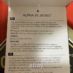 Nwts $749 Arcteryx Femmes Alpha Sv Gore-tex Pro Jacket/large. Cardinal (18081)