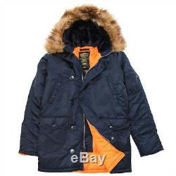 Parka Slim Fit N-3b, Représentant Bleu / Orange, Moyen