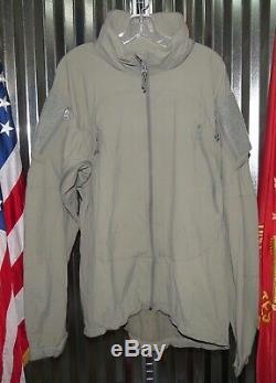 Patagonia Alpha Gris Moyen À Long Souple Niveau 5 Shell Veste Combat Coat L5 Ucp