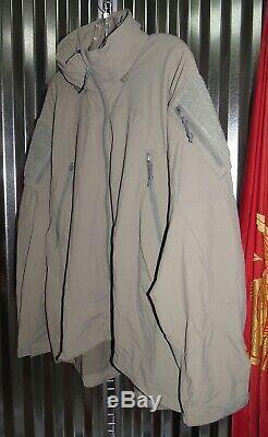 Patagonia Alpha Gris Moyen Régulier Souple Shell Level 5 Veste Combat Coat L5 Ucp