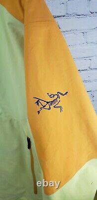 Rare Arcteryx Alpha Anorak Pullover Men Medium Yellow Orange Recco Gore-tex 2012