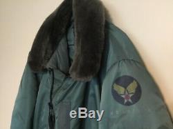 Série Vintage Alpha B15-d. Veste Style Flight Intermédiaire Taille XL B15