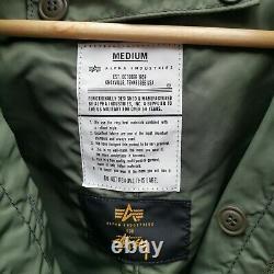 Stussy X Alpha Industries Collaboration Parka Jacket Vert