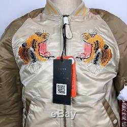 Tn-o Alpha Industries Mens Flying Tiger Flight Jacket Bombardier Sz M Aviation Pilot