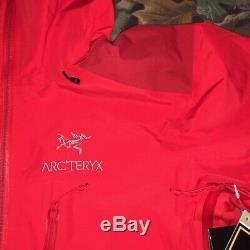 Tn-o Arc'teryx Alpha Ar-tex Pro Shell Jacket Mens Medium Magma Nouveau Prix Épuisé