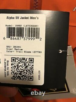 Tn-o Arc'teryx Alpha Sv Jacket Mens Medium Trail Blaze Pdsf & 799