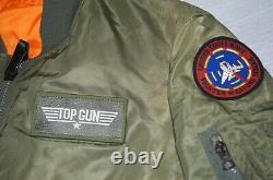 Top Gun Paramount Officiel Alpha Ma-1 Édition Limitée De 5000 Veste De Vol Bon