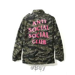 Toute Nouvelle Authentique Anti Social Club Assc Ss18 Alpha Tigre Veste Taille Moyenne