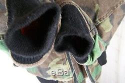 Usaf Alpha Industries Hommes Ma-1 Ctn Veste De Vol Woodland Camo Med